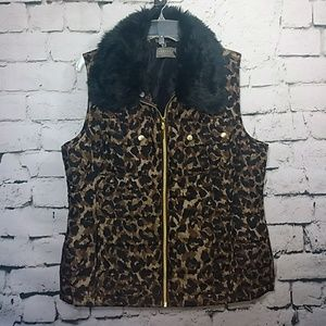 Casual Identity animal print quilted vest